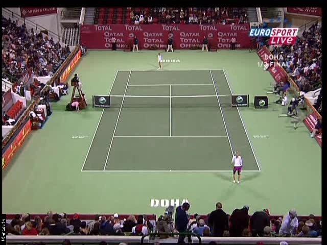 WTA Doha 2008 SF A Radwanska vs M Sharapova POL mp4 preview 0