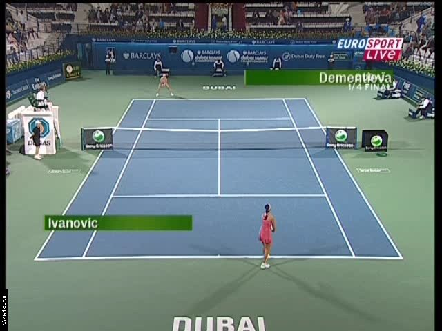 WTA Dubai 2008 QF Dementieva vs Ivanovic POL mp4 preview 0