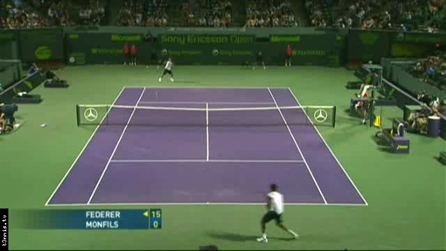 Miami 2008 Federer vs Monfils ENG mp4 preview 0