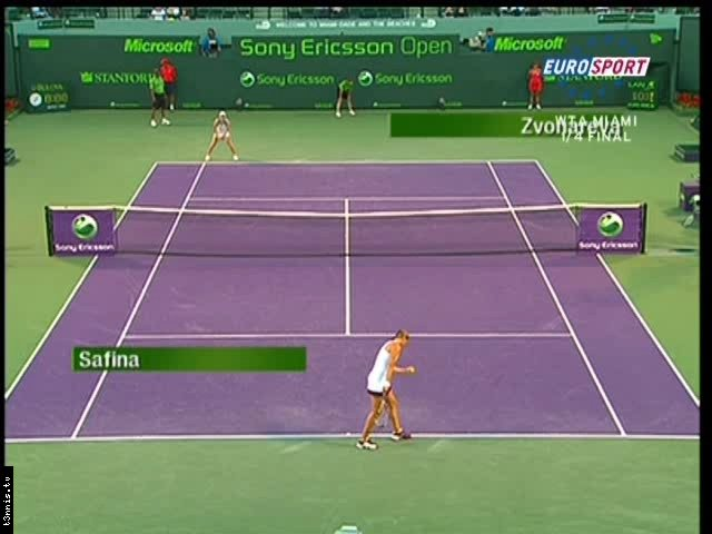 Miami 2008 QF  Safina vs Zvonareva POL mp4 preview 0