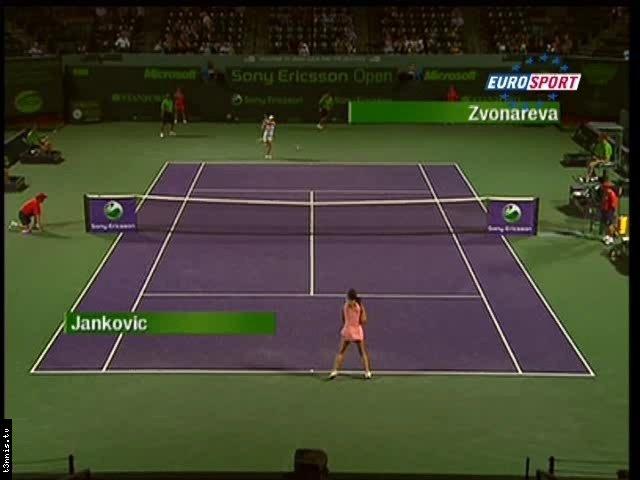 Miami 2008 SF Jankovic vs Zvonareva POL mp4 preview 0