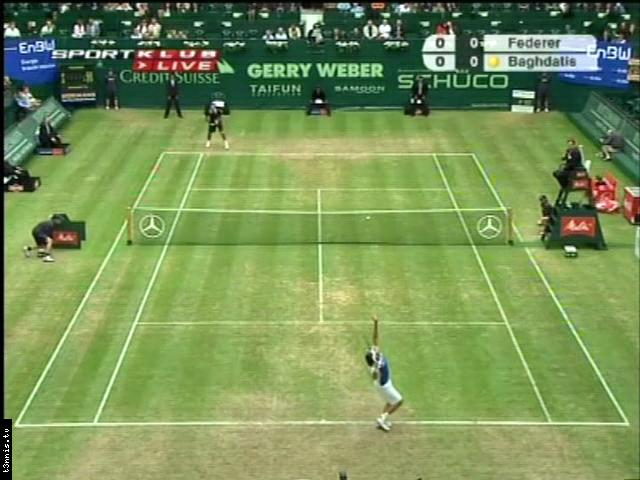 ATP 2008 Halle QF Federer vs Baghdatis POL avi preview 0
