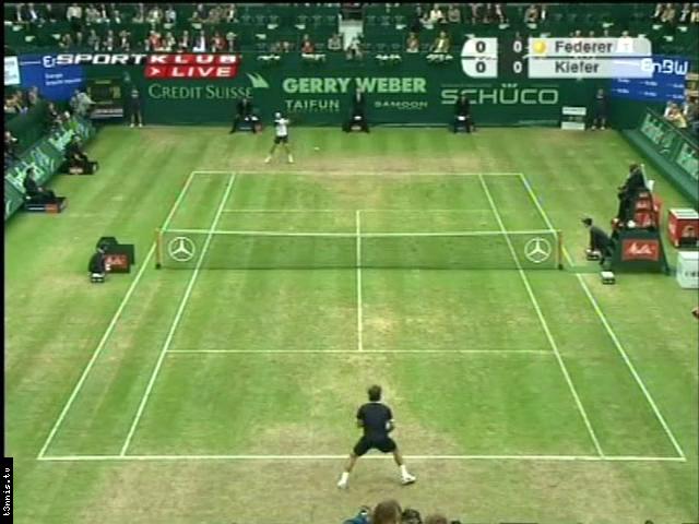 ATP 2008 Halle SF Federer vs Kiefer POL avi preview 0